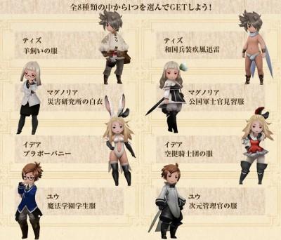 キャラクター専用衣装