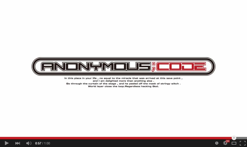 ANONYMOUS;CODE ティザームービー 07